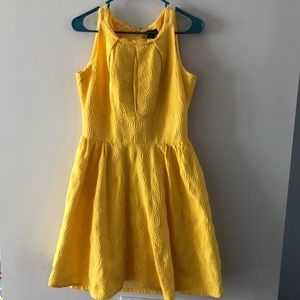 Womens New Directions Dress Fit & Flare Yellow 10